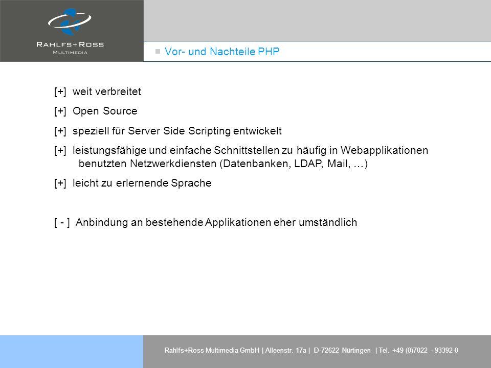 [+] speziell für Server Side Scripting entwickelt